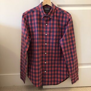 Bonobos Button Down Sz Small Slim Red and Blue